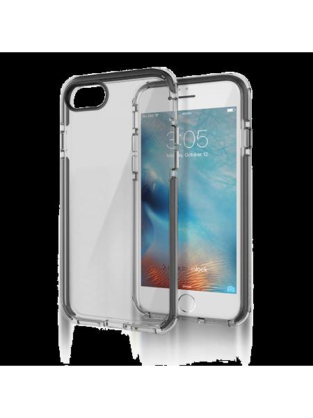 Чехол противоударный Rock Guard на iPhone 7 — Чёрный прозрачный
