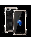 Чехол противоударный R-Just Amira чёрно золотой на iPhone 7 — Прочный бампер