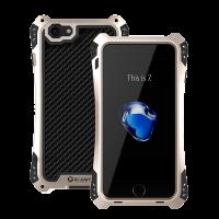 Чехол противоударный R-Just Amira, чёрно золотой, на iPhone 7