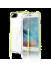Чехол противоударный Rock Guard зелёный на iPhone 7 — Прозрачный