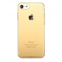 Чехол силиконовый Baseus, тонкий, золотой, на iPhone 7