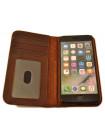 Чехол книжка кожаная BookBook на iPhone 8 — Коричневая