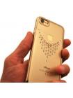 Чехол накладка Kingxbar, Sky Gold, Роса, для iPhone 8