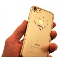 Чехол накладка Kingxbar Sky Gold Сердце для iPhone 8