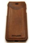 Чехол кожаный раскладушка Pierre Cardin, Коричневый, на iPhone 8 — Флип-кейс