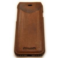 Чехол кожаный раскладушка Pierre Cardin Коричневый на iPhone 8