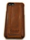 Чехол кожаный раскладушка Pierre Cardin Коричневый на iPhone 8 — Флип-кейс