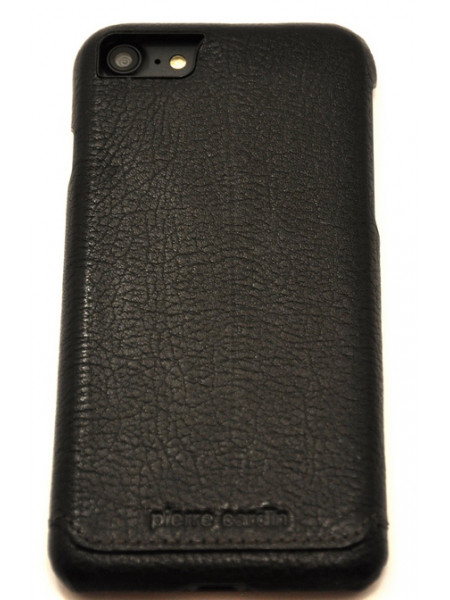 Чехол накладка Pierre Cardin, черная, на iPhone 8 — Кожаная