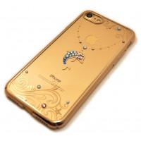 Чехол накладка прозрачная Kingxbar, Дельфин, на iPhone 8