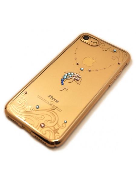 Чехол накладка прозрачная Kingxbar, Дельфин, на iPhone 8 — Swarovski