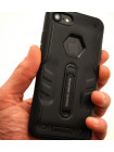 Чехол противоударный Nillkin Defender 4 чёрный на iPhone 8 — Качественные