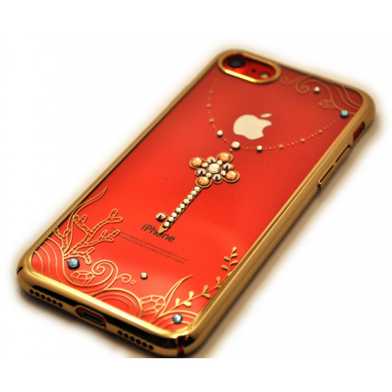 Чехол, накладка, Kingxbar Sky Gold Любовь, на iPhone 8 — Swarovski