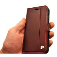 Чехол книжка кожаная, красная Pierre Cardin на iPhone 8