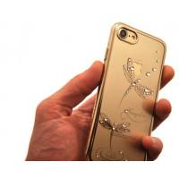 Чехол накладка Kingxbar, Gold Джейд, стрекоза, на iPhone 8