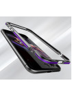 Чехол бампер металлический Luphie, Bicolor, Чёрно-Красный, на iPhone 7 Plus — Прочный