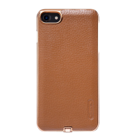 Чехол для беспроводной зарядки Nillkin, N-Jarl, коричневый, на iPhone 7
