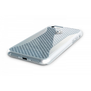 Чехол накладка Ferrari, GT Experience Hard, карбон, на iPhone 7 — Серебро