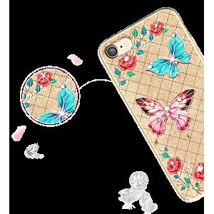 Чехол накладка Kingxbar, Fairy Land, бабочка, для iPhone 7 — Swarovski