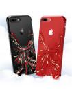 Чехол накладка Kingxbar Феникс Чёрная на iPhone 7 Plus — Swarovski