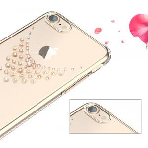 Чехол накладка Kingxbar, Sky Gold Роса, на iPhone 7 — Swarovski