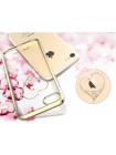 Чехол накладка Kingxbar, Sky Gold, Сердце, на iPhone 7 — Swarovski