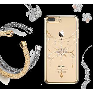 Чехол накладка Kingxbar Twinkling Золотая звезда на iPhone 7 Plus