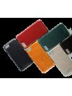 Чехол накладка Pierre Cardin, Тёмно-коричневая, на iPhone 7 plus — Кожаная