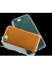 Чехол накладка Pierre Cardin Зелёная на iPhone 7 — Премиум, кожаная