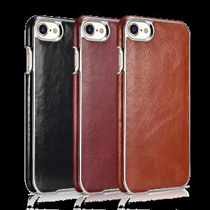 Чехол накладка Xoomz Electroplating коричневая на iPhone 7