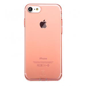 Чехол силиконовый Baseus тонкий розовый на iPhone 7 — Прозрачный