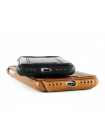 Чехол кожаный Pierre Cardin flip Красный на iPhone 7 plus — Премиум
