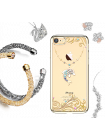 Чехол накладка Kingxbar, Series Ocean, дельфин, на iPhone 7 — Swarovski
