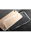 Чехол накладка силиконовая Baseus Simple Чёрная на iPhone 7 Plus — Тонкая, прозрачная