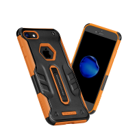 Чехол противоударный Nillkin Defender 4 на iPhone 7 — Оранжевый