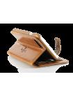 Чехол книжка коричневая Pierre Cardin на iPhone 7 — Премиум качество