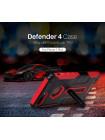 Чехол противоударный Nillkin, Defender 4, Красный, на iPhone 7 Plus — Антиударный