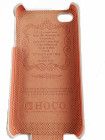 Чехол кожаный, раскладушка, белый Hoco на iPhone 4 — 4s