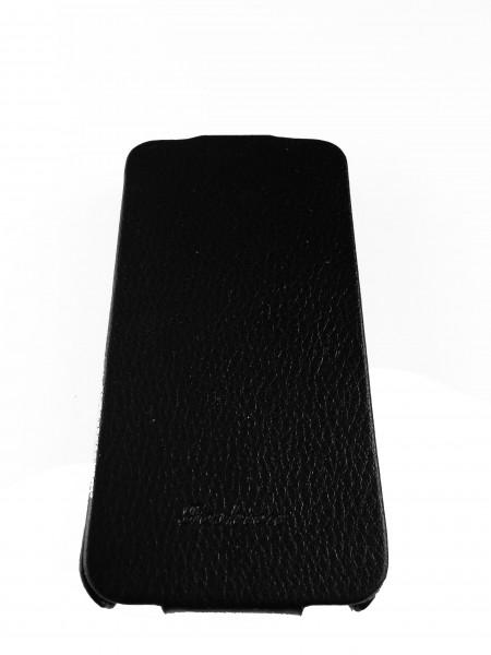 Чехол кожаный, раскладушка, чёрный, Mobcase на iPhone 4, 4s