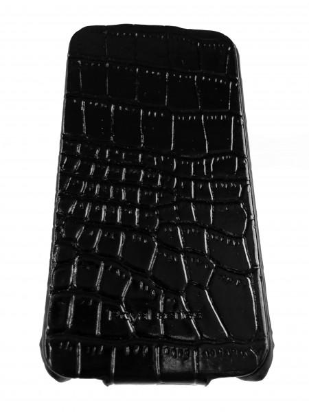 Чехол, раскладушка, чёрный, Hoco Bright Crocodile, для iPhone 4, 4s