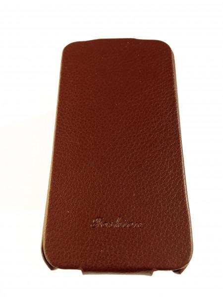Чехол кожаный, раскладушка, коричневый, Mobcase на iPhone 4, 4s