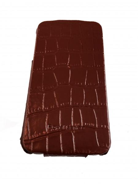 Чехол, раскладушка, коричневый, Hoco Bright Crocodile, для iPhone 4, 4s