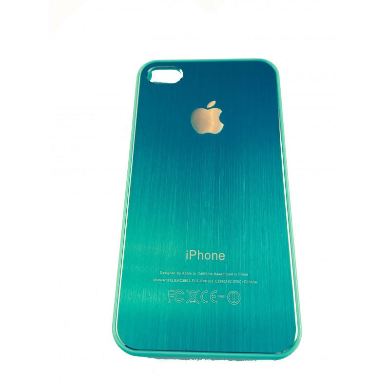 Чехол, накладка, бирюзовый, SGP, Satin Silver, для iPhone 4, 4s