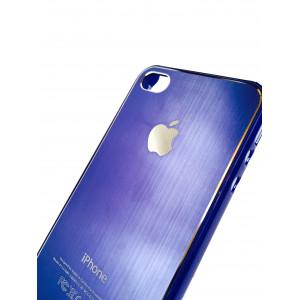 Чехол, накладка, голубой , SGP, Satin Silver, для iPhone 4, 4s