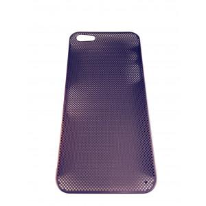 Чехол накладка Mobcase, металлический, сиреневый для iPhone 5, 5s