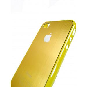 Чехол, накладка, жёлтый, SGP, Satin Silver, для iPhone 4, 4s