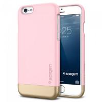 Чехол накладка SPIGEN Style Armor розовый для iPhone 6, 6s