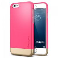 Чехол накладка SPIGEN Style Armor ярко-розовый для iPhone 6, 6s