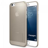 Чехол накладка, тонкий SPIGEN Air Skin, шампань для iPhone 6, 6s