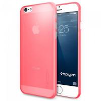 Чехол накладка, тонкий SPIGEN Air Skin светло-розовый для iPhone 6, 6s