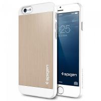 Чехол накладка SPIGEN Aluminum Fit шампань для iPhone 6, 6s